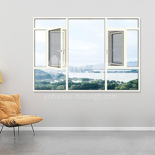 1.6mm 100 series aluminum alloy casement windows, high quality double casement windows, sound insulation, heat insulation and waterproof top accessories