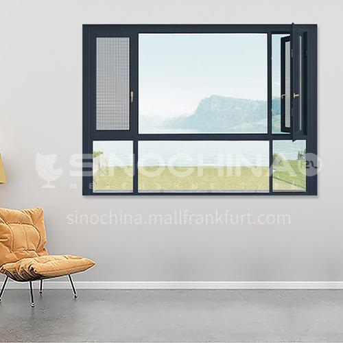 1.6mm 108 series aluminum alloy casement window screens one casement window high quality casement window bedroom window