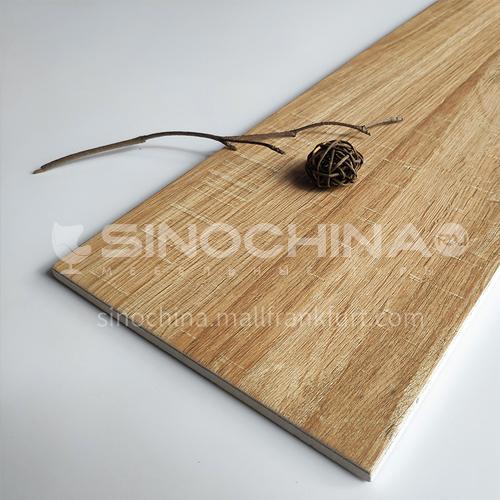 Nordic all-ceramic wood grain tile living room balcony floor tile-MY1022 200mm*1000mm