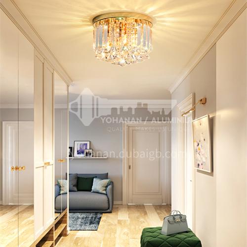 Modern led ceiling light crystal aisle light Nordic balcony cloakroom light luxury light GD-1281