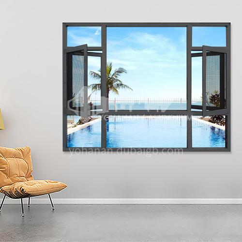 1.6mm 100 series aluminum alloy casement windows, waterproof, soundproof and thermal insulation screens, integrated casement windows, high quality casement windows, engineering windows
