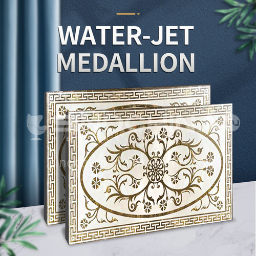 Modern high-end design natural marble stone medallion W-JR1275