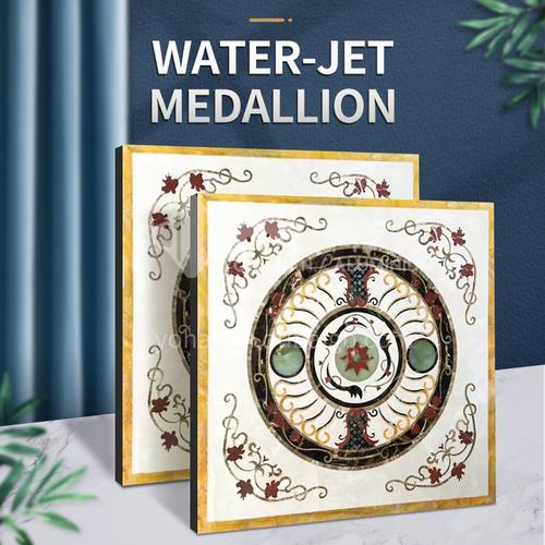 Modern high-end design natural marble stone medallion W-JS1279