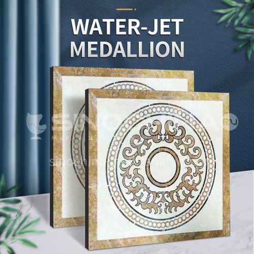 Modern high-end design natural marble stone medallion W-JS1280