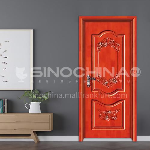 Pattern style oak solid wood door practical bedroom door