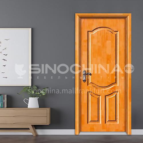 Classic style deep carved design oak solid wood door durable bedroom door