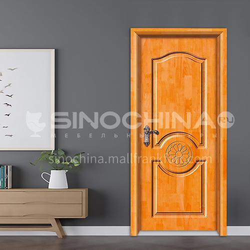 Carved style oak solid wood door room door