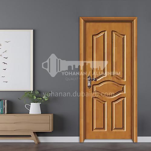 Oak solid wood door deep carved style painted oak solid wood door room door