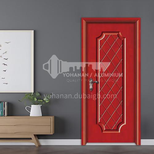 Oak deep carved door solid wood door environmentally friendly paint bedroom door