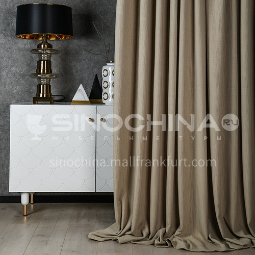 2021 new curtain modern minimalist style pure color dark pattern blackout curtain DFSK-JL102