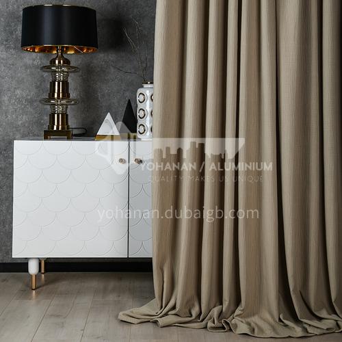 2021 new curtain modern minimalist style pure color dark pattern blackout curtain DFSK-JL102