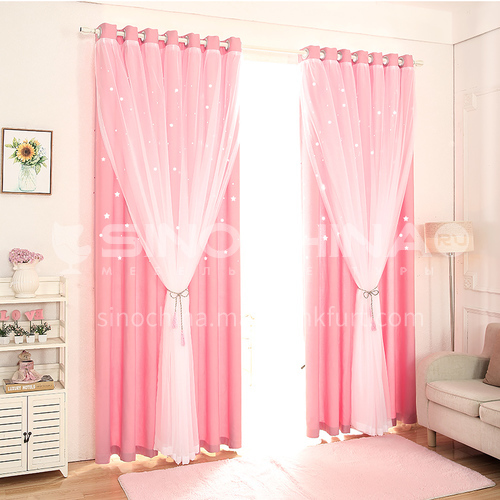Children  room full blackout cloth starry sky curtain DFSK-LKXXLS64