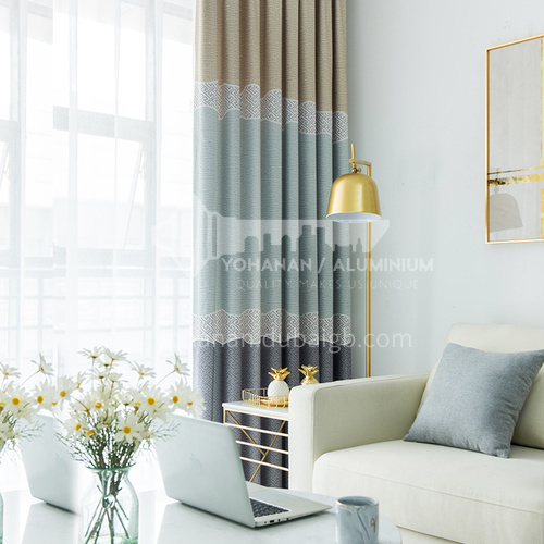 2021 new Nordic minimalist style cotton and linen blackout curtain DFSK-LWSL48
