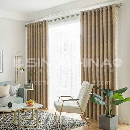 2021 new curtain modern Nordic style light luxury high quality curtain DFSK-NPLHALSL57