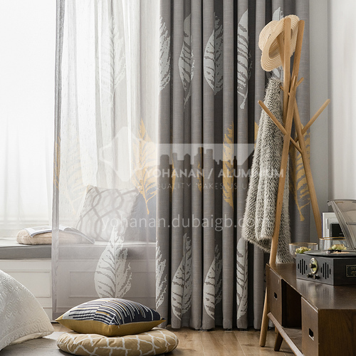 2021 Nordic Simple and Modern Style Linen Printed Blackout Curtain DFSK-MMSL69