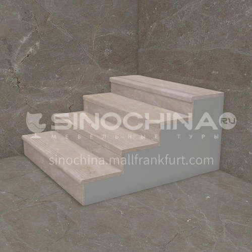 Natural beige European style marble staircase M-AA11Q