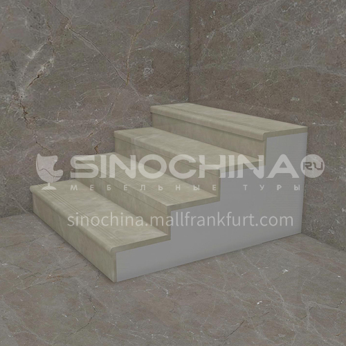 Natural beige classic European marble staircase M-BC20L
