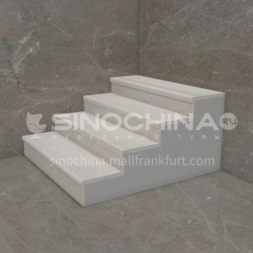 Natural beige European style marble staircase M-F099H