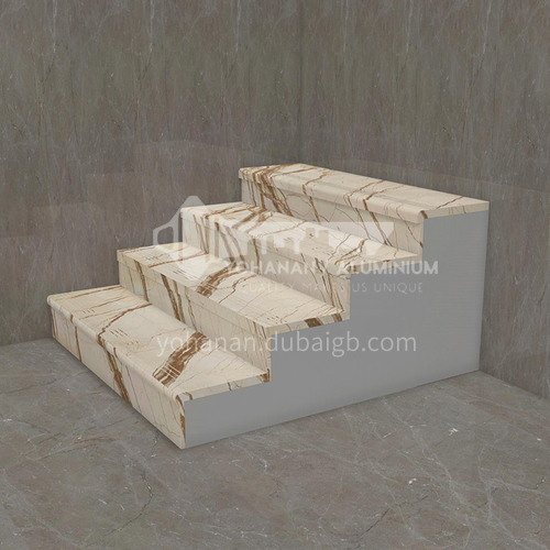 Natural beige European style marble staircase M-FA04G