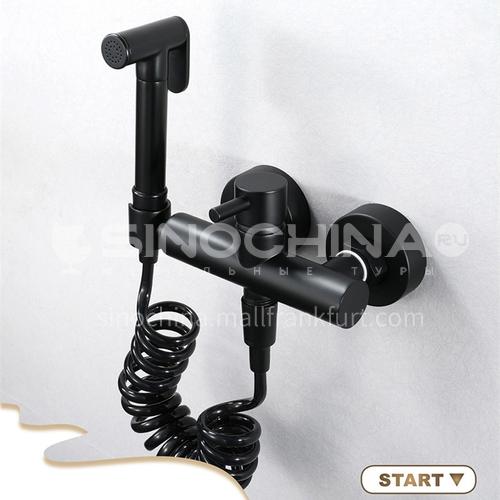 Matte black pure copper hot and cold shower spray gun