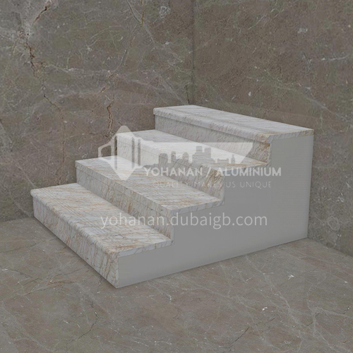 Natural beige European style marble staircase M-JB00Z