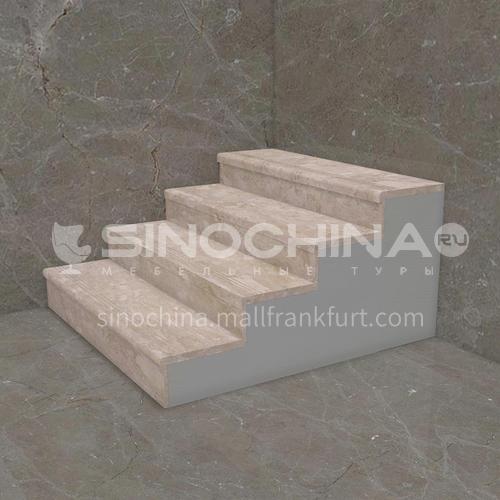 Natural beige classic European marble staircase M-KA95M