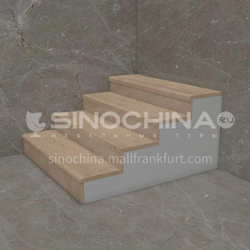 Natural beige classic European marble staircase M-MA01H