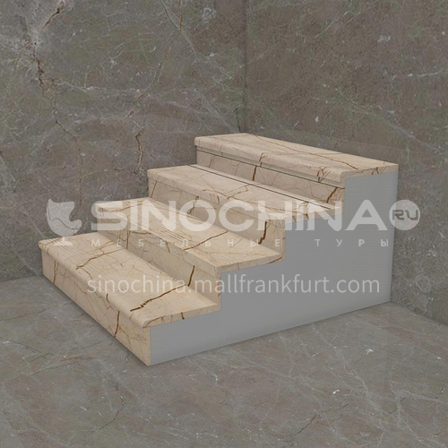 Natural beige European style marble staircase M-SA05F