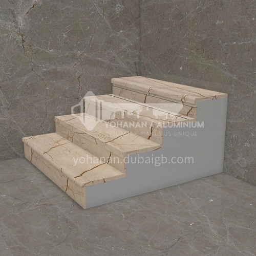 Natural beige European style marble staircase M-SA05F