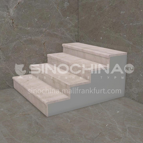 Natural beige European style marble staircase M-XA07M