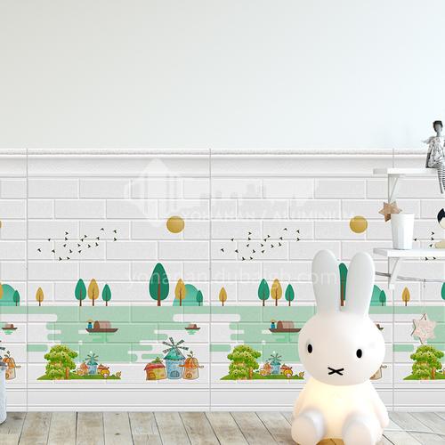 Waterproof and mildew proof modern 3D Self-Adhesive wall panel 9801