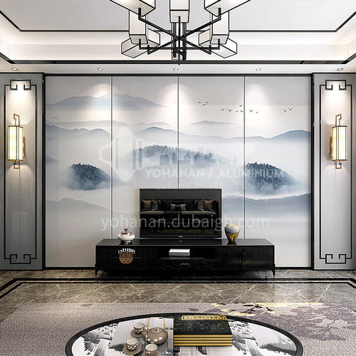 Classic Chinese ink-wash painting Customized Background Wall BGW122