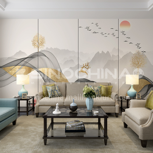 Chinese ink-wash painting Customized Background Wall BGW124