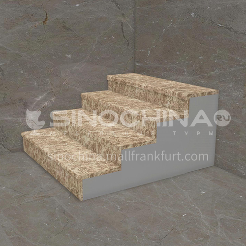 Natural brown hot-selling European style marble staircase M-F889L