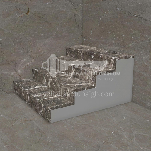 Natural hot-selling brown marble staircase M-G005F