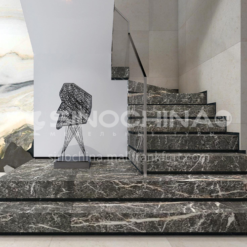 Natural brown hot selling marble staircase M-HA83H