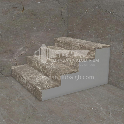 Natural brown hot-selling European style marble staircase M-QA84F