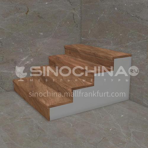Natural brown wood grain marble staircase M-MA77H