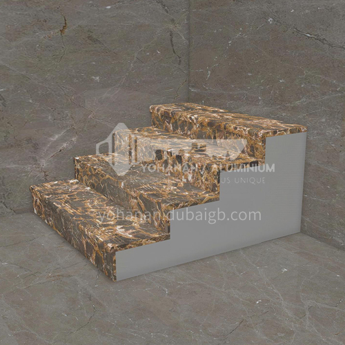 Natural brown European style marble staircase M-RA85D