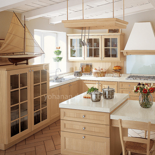 American style Kitchen cabinet PVC with HDF-GK-397