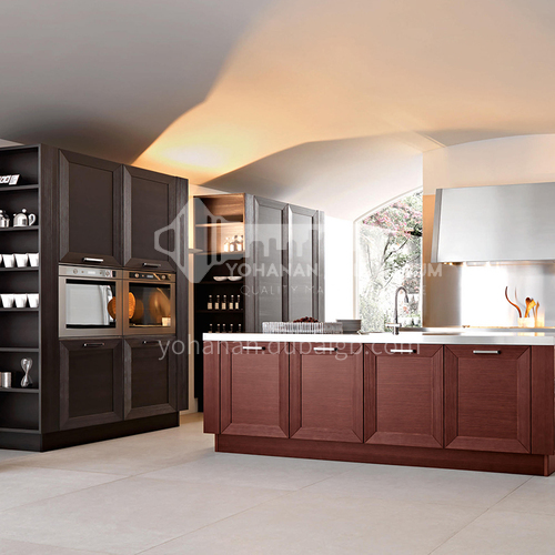 American style kitchen PVC with HDF-GK-398