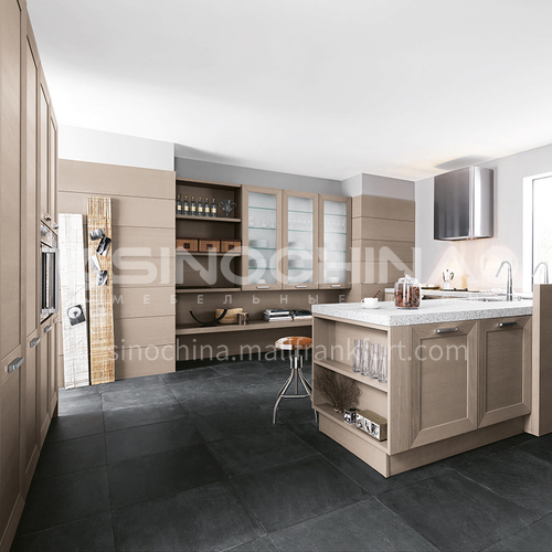 Classical style Kitchen cabinet PVC with HDF -GK-400