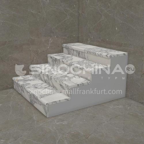 Natural white modern marble staircase M-DE99B