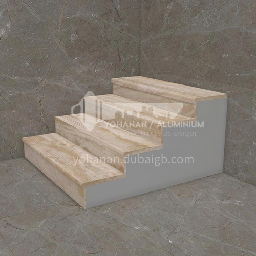 Natural beige European style marble staircase   M-HA85D