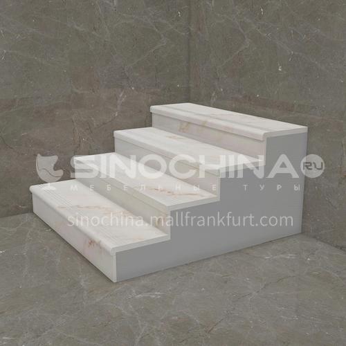 Natural white modern marble staircase M-G009X