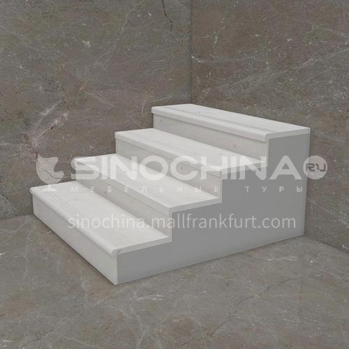 Natural white modern marble staircase M-GA12X