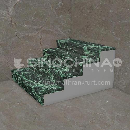 Natural green classical marble staircase M-DA12L
