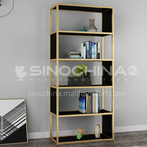 Steel Black & Gold Nordic Simple Rack Bookshelf