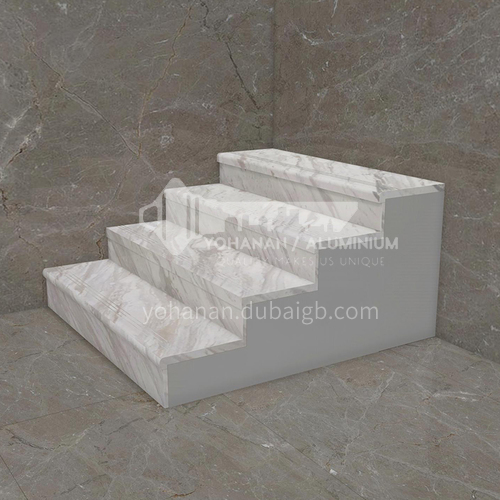 Natural white modern hot selling marble staircase M-JC05S