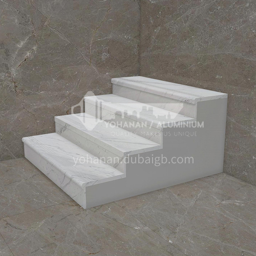 Natural white modern hot-selling marble staircase M-JC95S